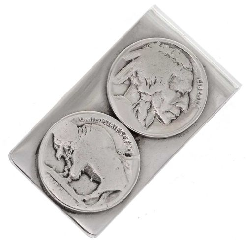 Indianerschmuck Money Clip Silber Buffalo Nickel
