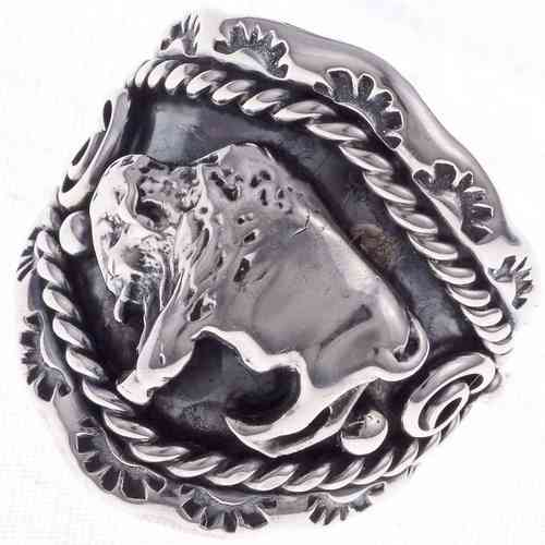 Indianerschmuck Ring Silber Magic Buffalo
