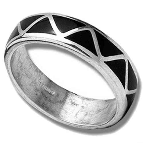 Indianerschmuck Weddingring Silber Black