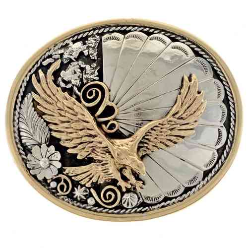 Indianerschmuck Buckle Bicolor Flying Eagle