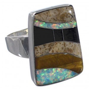 Ring Silber Rocky Trails multicolor