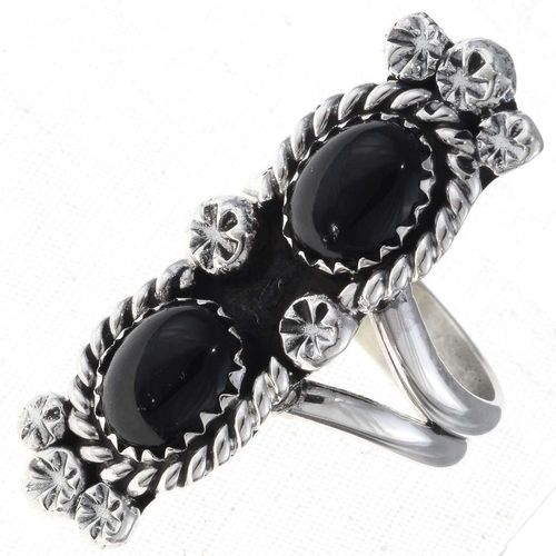 Ring Silber Pointer Style Onyx